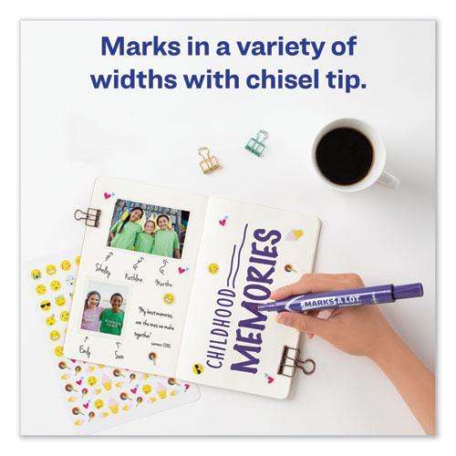 MARKS A LOT Large Desk-Style Permanent Marker, Broad Chisel Tip, Purple, Dozen, (8884). Picture 9