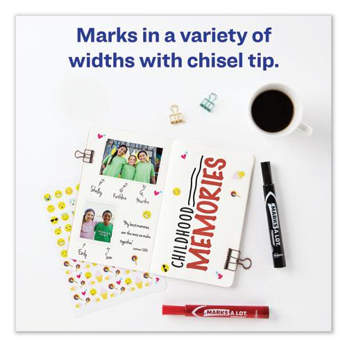 MARKS A LOT Large Desk-Style Permanent Marker Value Pack, Broad Chisel Tip, Assorted Colors, 24/Set. Picture 6