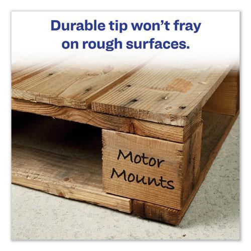 MARKS A LOT Regular Desk-Style Permanent Marker, Broad Chisel Tip, Assorted Colors, 4/Set, (7905). Picture 2