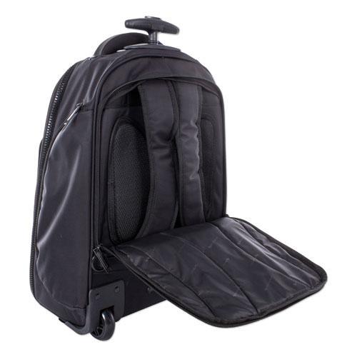 "Stride Business Backpack On Wheels, For Laptops 15.6"", 10"" x 10"" x 21.5"", Black"
