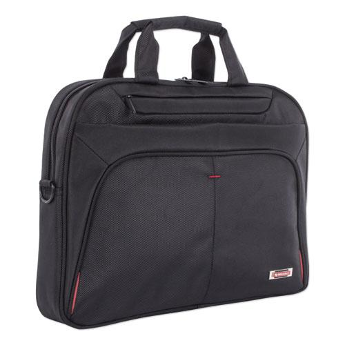 "Purpose Slim Executive Briefcase, Hold Laptops 15.6"", 2.5"" x 2.5"" x 12"", Black"