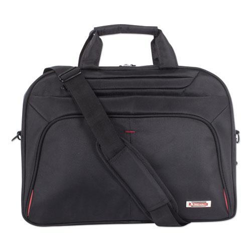 "Purpose Slim Executive Briefcase, Hold Laptops 15.6"", 2.5"" x 2.5"" x 12"", Black. Picture 2"