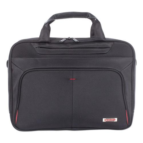 "Purpose Executive Briefcase, Holds Laptops 15.6"", 3.5"" x 3.5"" x 12"", Black"