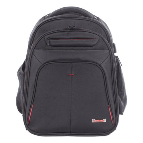 "Purpose 2 Section Business Backpack, Laptops 15.6"", 8.5"" x 8.5"" x 19.5"", Black"