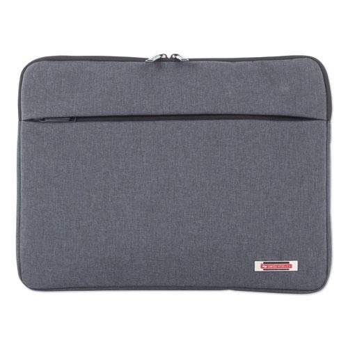 "Sterling 14"" Computer Sleeve, Holds Laptops 14.1"", 1"" x 1"" x 10.5"", Gray"