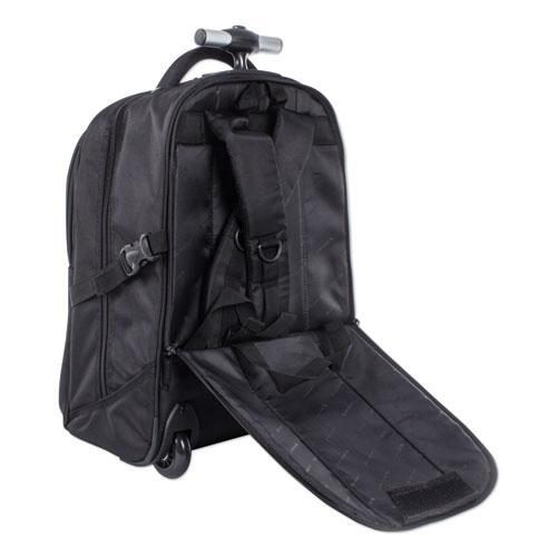 "Purpose Overnight Backpack On Wheels, 11"" x 11"" x 21.5"", Black"