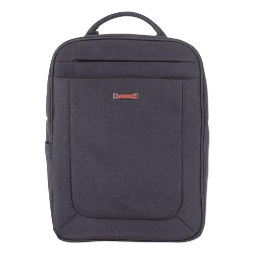 "Cadence 2 Section Business Backpack, For Laptops 15.6"", 6"" x 6"" x 17"", Charcoal"
