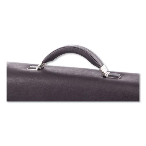 """Milestone Briefcase, Holds Laptops, 15.6"""", 5"""" x 5"""" x 12"""", Brown. Picture 4"""