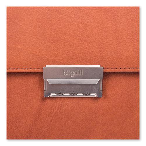 "Milestone Briefcase, Holds Laptops 15.6"", 5"" x 5"" x 12"", Cognac. Picture 7"