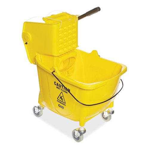 Pro-Pac Side-Squeeze Wringer/Bucket Combo, 8.75gal, Yellow. Picture 1