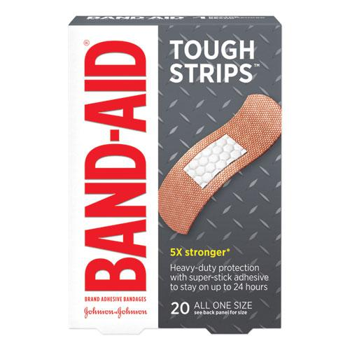 "Flexible Fabric Adhesive Tough Strip Bandages, 1"" x 3.25"", 20/Box. Picture 1"