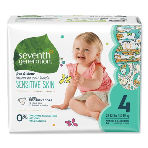 Free and Clear Baby Diapers, Size 4, 22 lbs to 32 lbs, 108/Carton. Picture 1