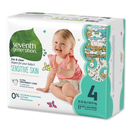 Free and Clear Baby Diapers, Size 4, 22 lbs to 32 lbs, 108/Carton. Picture 3