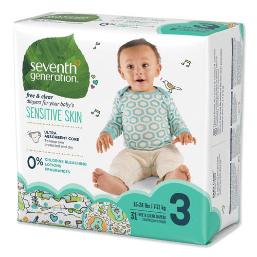 Free and Clear Baby Diapers, Size 3, 16 lbs to 24 lbs, 31/Pack. Picture 10