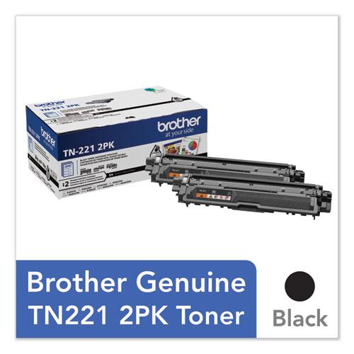 TN2212PK Toner, 2500 Page-Yield, Black, 2/Pack. Picture 1