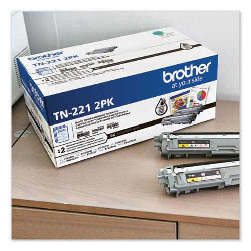 TN2212PK Toner, 2500 Page-Yield, Black, 2/Pack. Picture 4