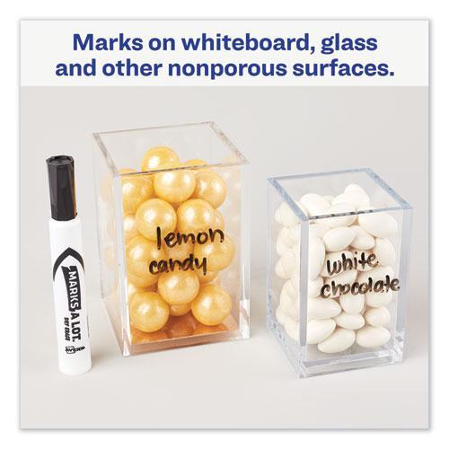 MARKS A LOT Desk-Style Dry Erase Marker, Broad Chisel Tip, Black, Dozen. Picture 3