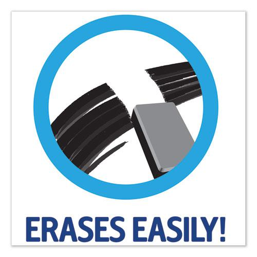 MARKS A LOT Desk-Style Dry Erase Marker, Broad Chisel Tip, Black, Dozen. Picture 8