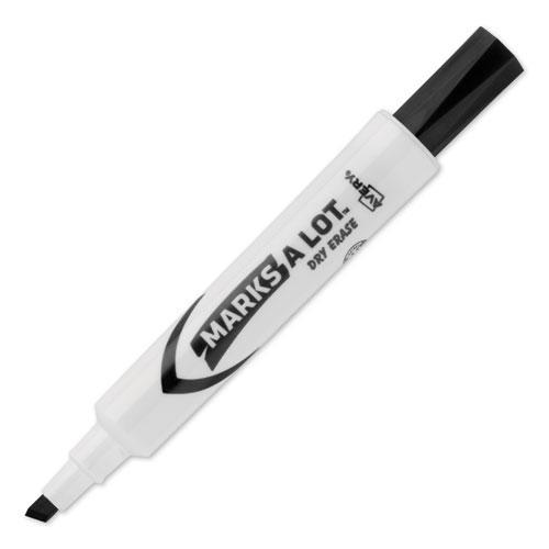 MARKS A LOT Desk-Style Dry Erase Marker, Broad Chisel Tip, Black, Dozen. Picture 5