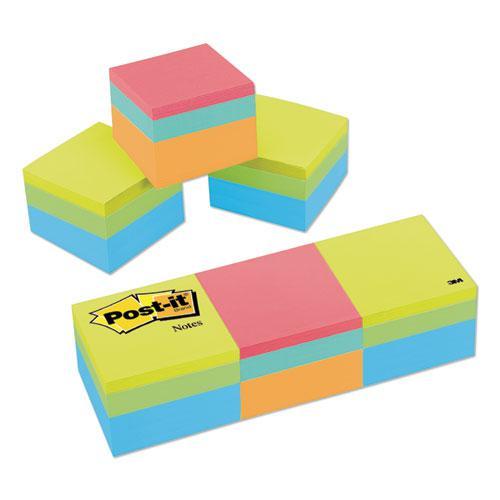 Mini Cubes, 1 7/8 x 1 7/8, Orange Wav/Green Wave, 400-Sheet, 3/Pack. Picture 1