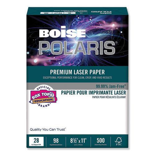 POLARIS Premium Laser Paper, 98 Bright, 28lb, 8.5 x 11, White, 500/Ream. Picture 1