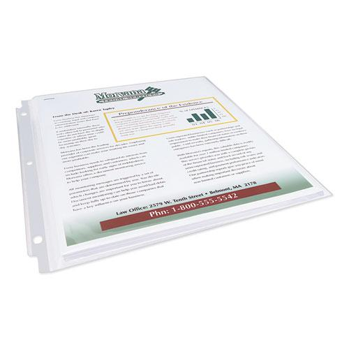 Multi-Page Top-Load Sheet Protectors, Heavy Gauge, Letter, Clear, 25/Pack. Picture 4