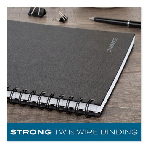 Hardbound Notebook w/ Pocket, 1 Subject, Wide/Legal Rule, Black Cover, 11 x 8.5, 96 Sheets. Picture 6