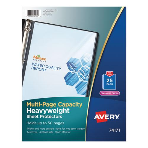 Multi-Page Top-Load Sheet Protectors, Heavy Gauge, Letter, Clear, 25/Pack. Picture 1