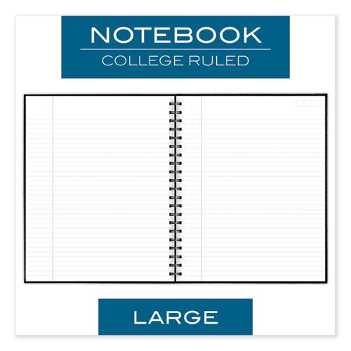 Hardbound Notebook w/ Pocket, 1 Subject, Wide/Legal Rule, Black Cover, 11 x 8.5, 96 Sheets. Picture 5