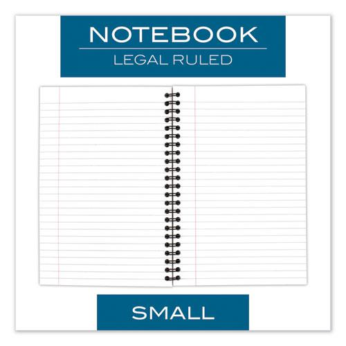 Wirebound Business Notebook, Wide/Legal Rule, Black Cover, 8 x 5, 80 Sheets. Picture 5