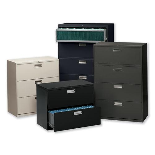 600 Series Two-Drawer Lateral File, 36w x 18d x 28h, Black. Picture 2