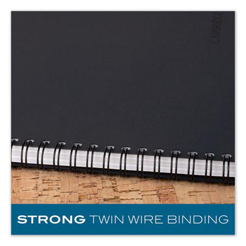 Wirebound Business Notebook, Wide/Legal Rule, Black Cover, 8 x 5, 80 Sheets. Picture 4