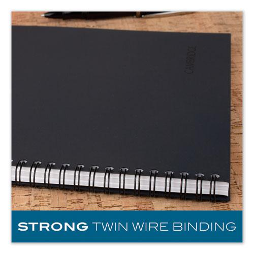 Wirebound Business Notebook, Wide/Legal Rule, Black Cover, 9.5 x 6.68, 80 Sheets. Picture 3