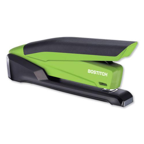 InPower Spring-Powered Desktop Stapler, 20-Sheet Capacity, Green. Picture 5