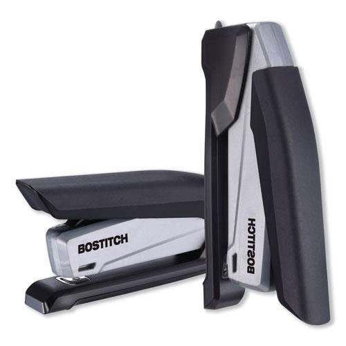 InPower Spring-Powered Premium Desktop Stapler, 28-Sheet Capacity, Black/Gray. Picture 5