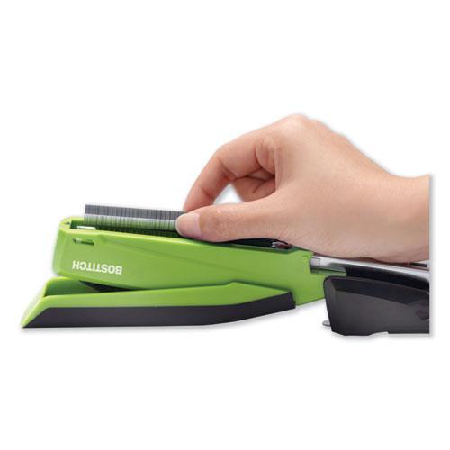 InPower Spring-Powered Desktop Stapler, 20-Sheet Capacity, Green. Picture 2