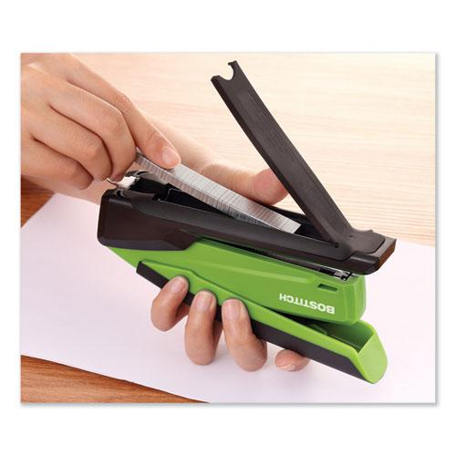 InPower Spring-Powered Desktop Stapler, 20-Sheet Capacity, Green. Picture 7