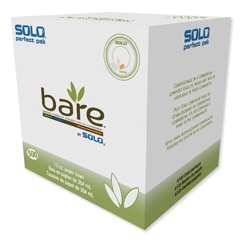 Bare Paper Eco-Forward Dinnerware, 12oz Bowl, Green/Tan, 500/Carton. Picture 1