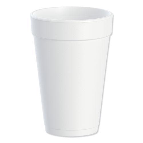 Foam Drink Cups, 16oz, White, 25/Bag, 40 Bags/Carton. Picture 1