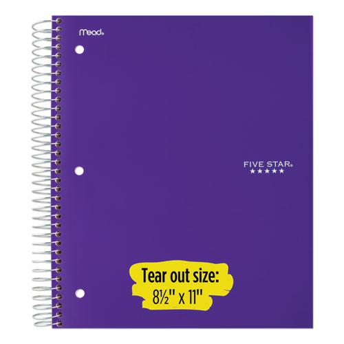 Wirebound Notebook, 5 Subjects, College Rule, Assorted Color Covers, 11 x 8.5, 200 Sheets. Picture 6
