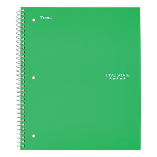 Wirebound Notebook, 5 Subjects, College Rule, Assorted Color Covers, 11 x 8.5, 200 Sheets. Picture 7