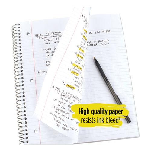 Wirebound Notebook, 5 Subjects, College Rule, Assorted Color Covers, 11 x 8.5, 200 Sheets. Picture 8