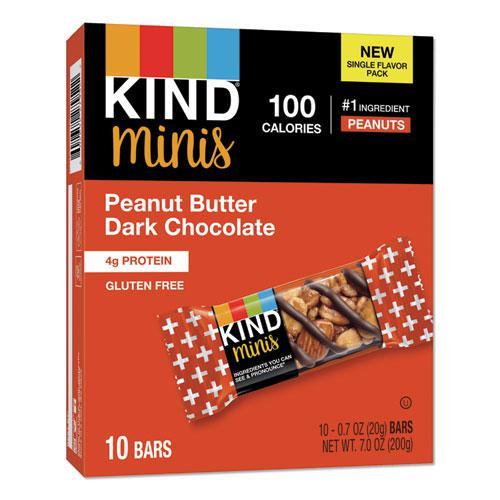 Minis, Peanut Butter Dark Chocolate, 0.7 oz, 10/Pack. Picture 1