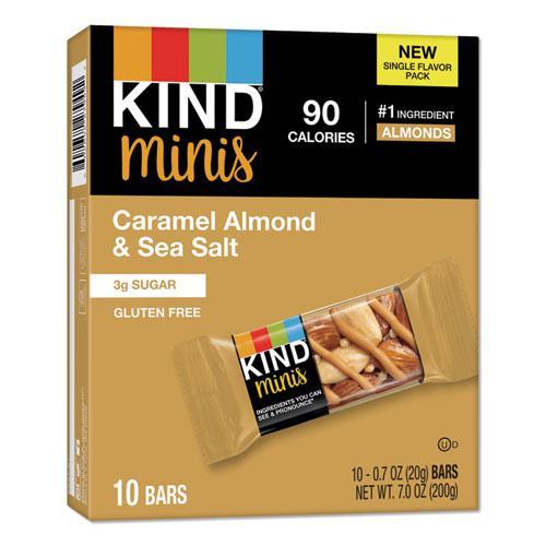Minis, Caramel Almond Nuts/Sea Salt, 0.7 oz, 10/Pack. Picture 1