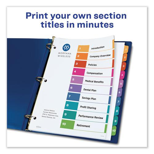 Customizable TOC Ready Index Multicolor Dividers, 10-Tab, Letter, 6 Sets. Picture 8