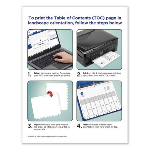Customizable TOC Ready Index Black and White Dividers, 31-Tab, Letter. Picture 4