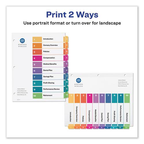 Customizable TOC Ready Index Multicolor Dividers, 10-Tab, Letter, 6 Sets. Picture 7