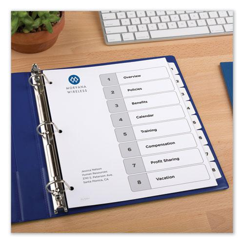 Customizable TOC Ready Index Black and White Dividers, 8-Tab, Letter. Picture 5