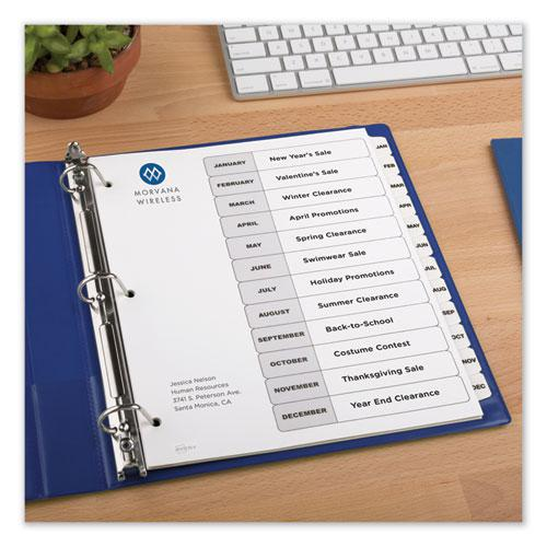 Customizable TOC Ready Index Black and White Dividers, 12-Tab, Letter. Picture 5