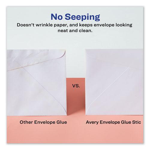 Permanent Glue Stic for Envelopes, 0.26 oz, Applies Purple, Dries Clear, 3/Pack. Picture 3